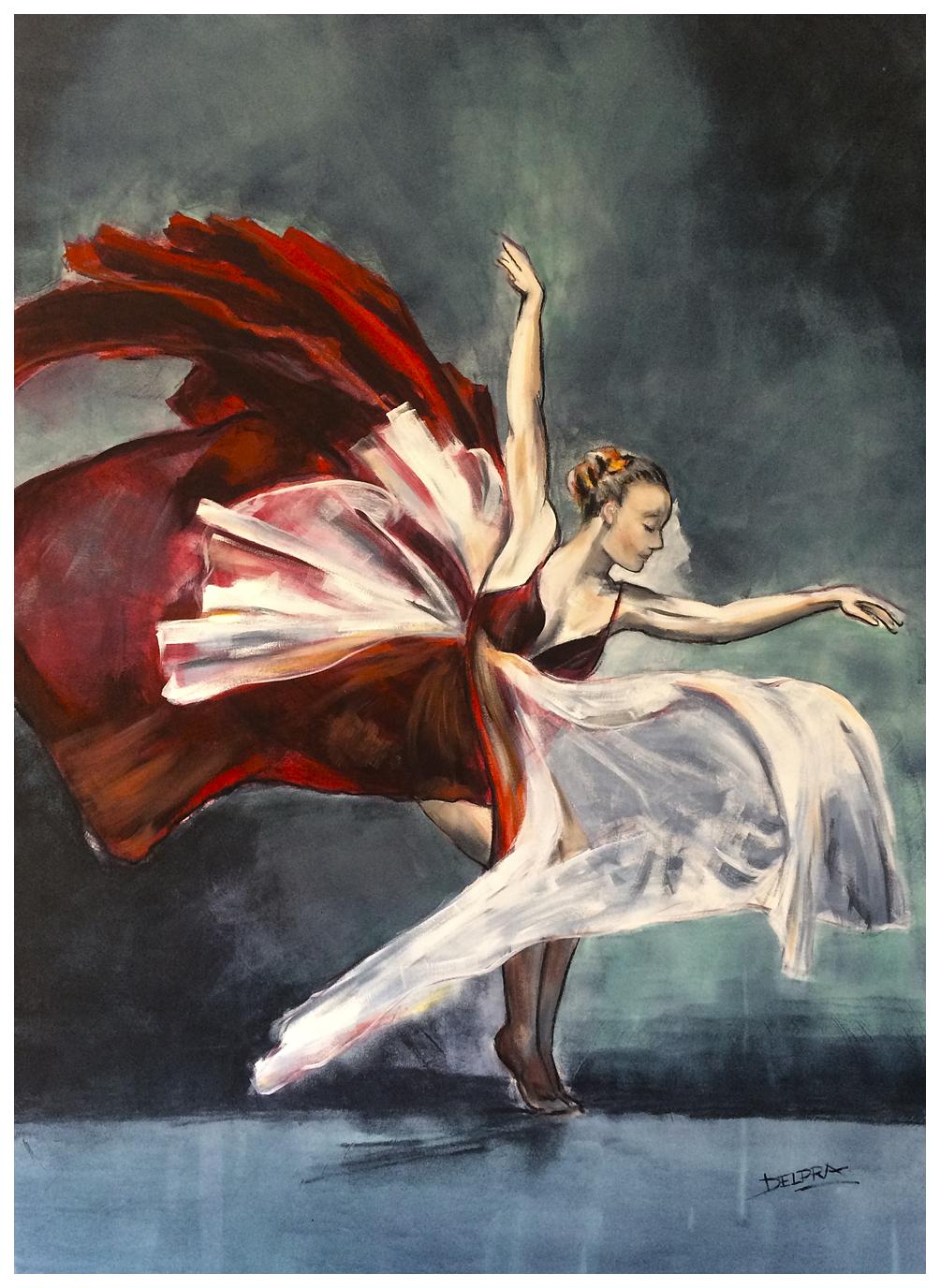Ballerina Rojos y Magentas OK